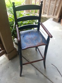 Rare Primitive Antique Child's Youth Chair HighChair