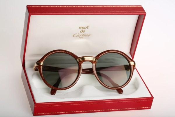 Cartier Cabriolet Wood Vintage Sunglasses Nos 90'