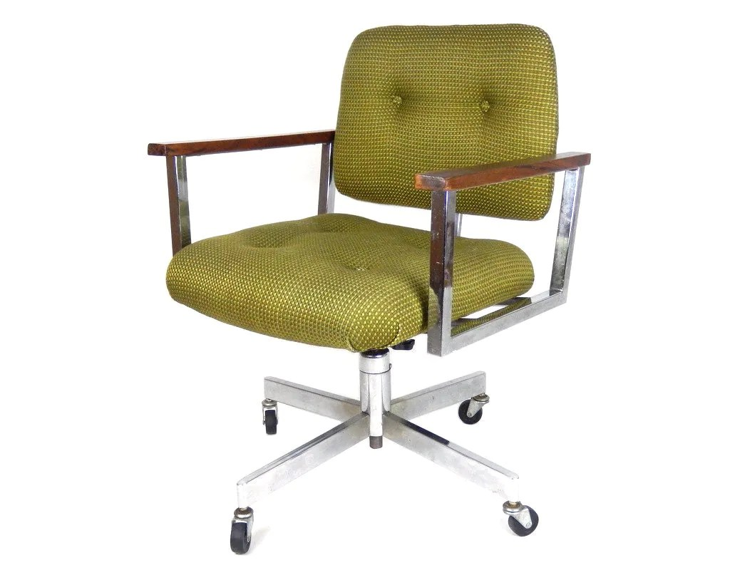 Midcentury Chairs Mid Century Modern Office Chair Chrome Desk Chair Swivel