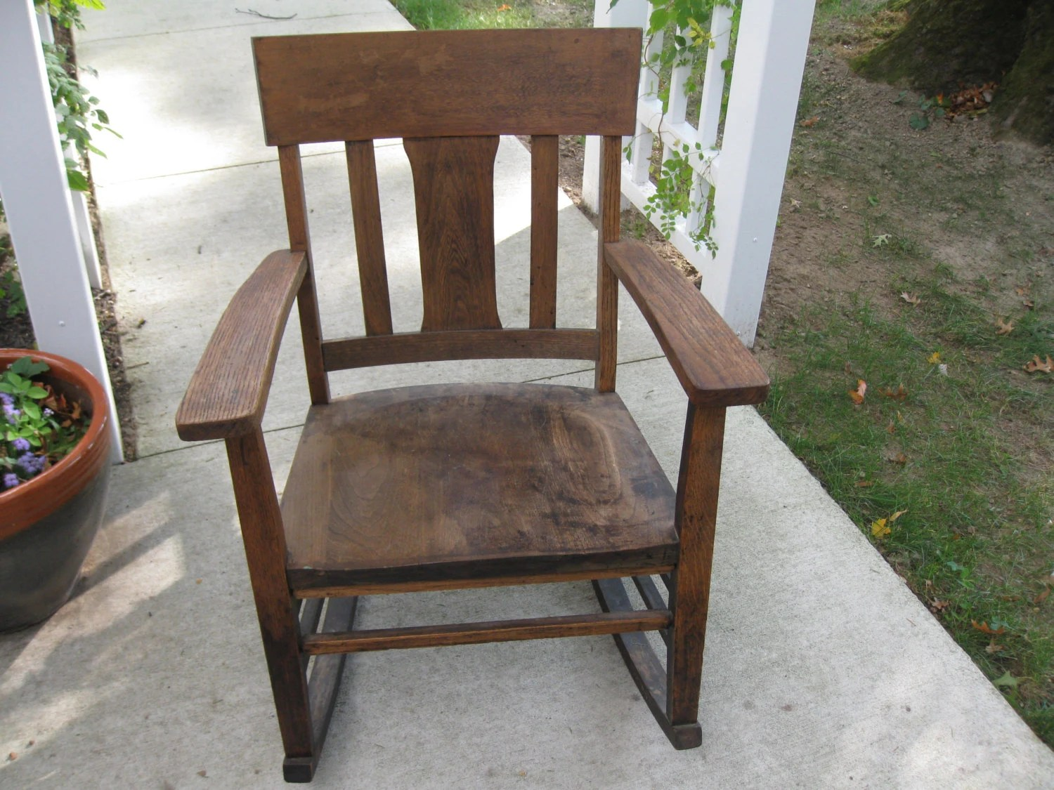 murphy chair company elderly chairs no 9673 late 1800 s to early 1900 oak rocking mission style local pick up due size
