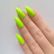 neon green stiletto nails nail
