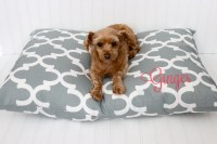 Dog Bed Cover Personalized Dog Pillow Cover Pet Bed Cover