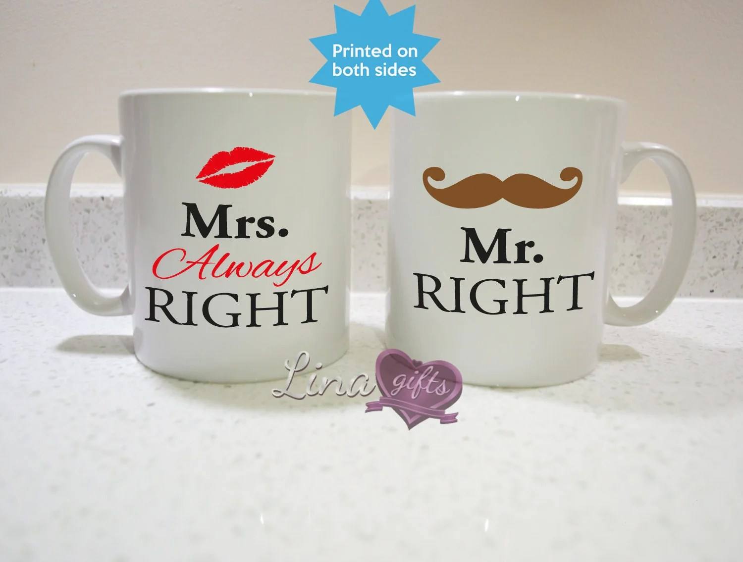 Bettwäsche Mrs Always Right Mr Right And Mrs Always Right Mugs Mr
