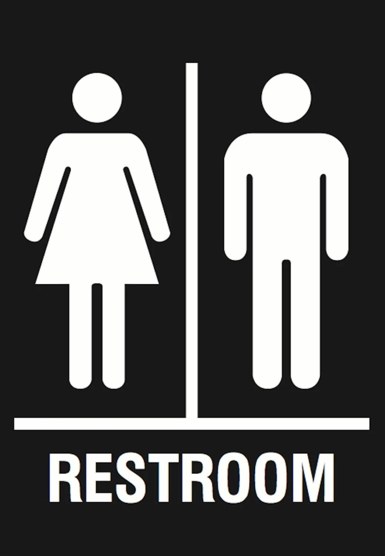 Men Amp Women Restroom Sign Quality Plastic Outdoor Plaque
