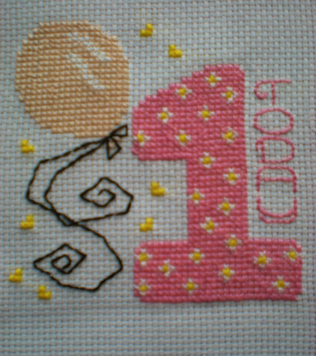 First Birthday Card Cross Stitch Kit Girl Or Boy