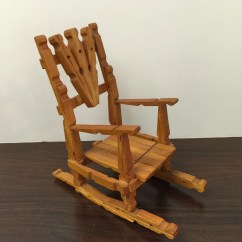 Handmade Rocking Chairs Best Reclining Chair Vintage Wood Doll House