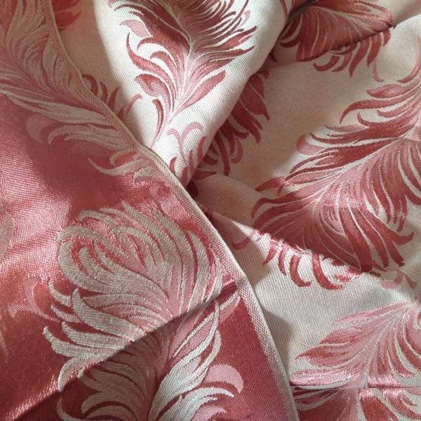 Beautiful Dark Peach Vintage Damask Fabric
