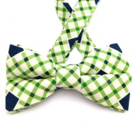 Plaid bow tie green plaid bow tie adjustable plaid boys bow