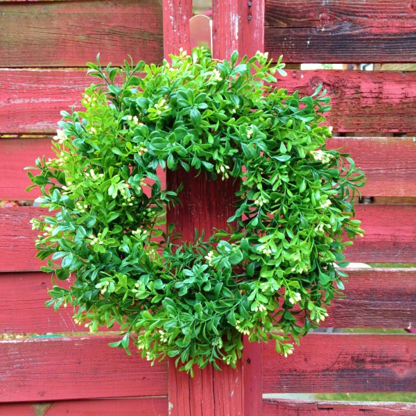 Outdoor Boxwood Wreath Faux Artificial
