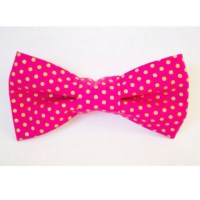 Pink and Gold Polka Dot Dog Bow Tie by FetchCollection on Etsy
