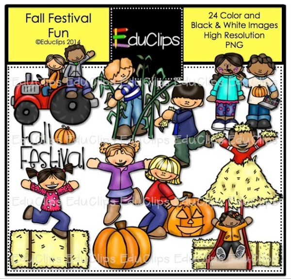 fall festival fun clip art bundle