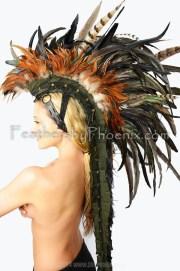 custom handmade sage feather mohawk