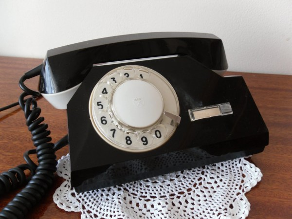 Phone Rotary Dial Black Color Vintage Natatrade