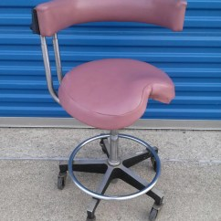 Tattoo Artist Chair Spinal Decompression Vintage Pink Dentsply Dentists Stool Retro Doctor