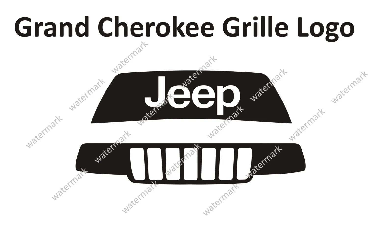 Jeep Grand Cherokee Limited Laredo Grille Logo Decal by