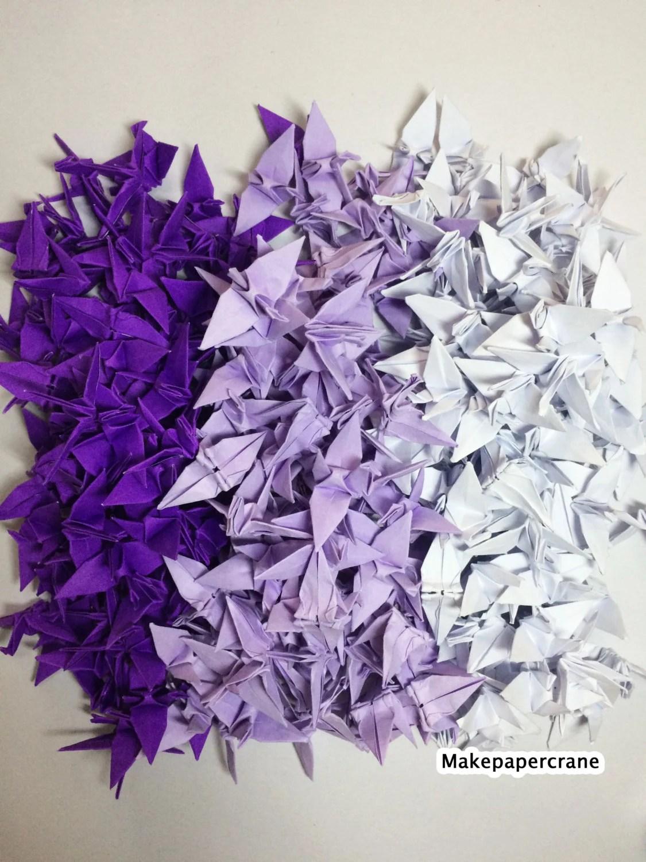 Origami Cranes 1000 Purple Origami Paper Cranes Paper Crane