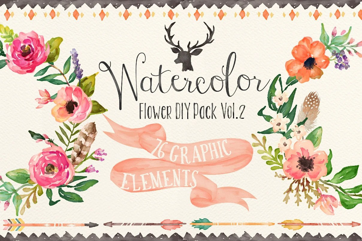 Fall Simply Southern Wallpapers Watercolor Flower Diy Pack Vol 2big Bundle