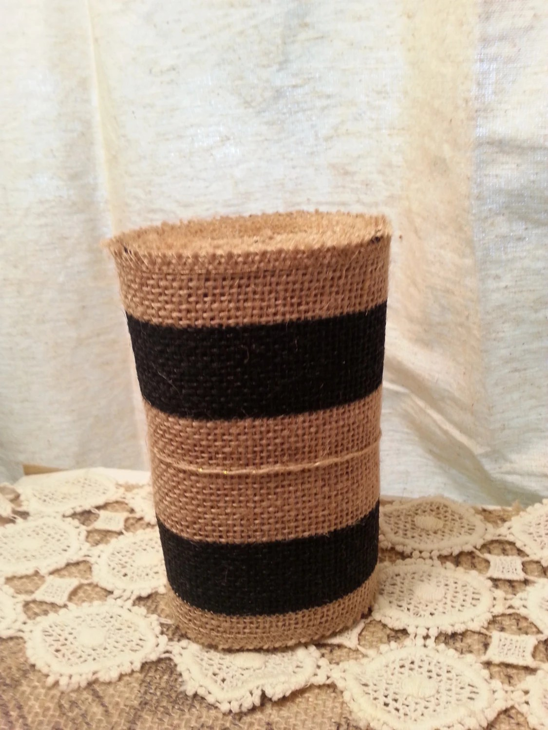burlap chair covers for sale kids hair cutting chairs priced roll ribbon 5in x 10ft craft