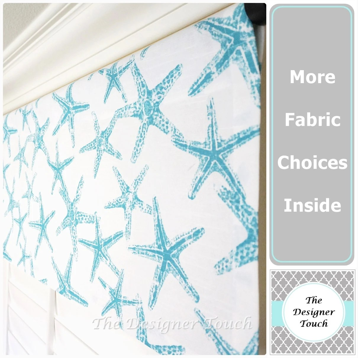 Sale Aqua Valancechor Valance Nautical By Thedesignertouch