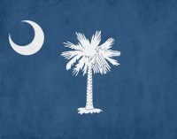 South Carolina State Flag Print Wall Art Aged or Original Bar