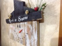 Items similar to Pallet Wood Primitive Snowman Sign Rustic ...