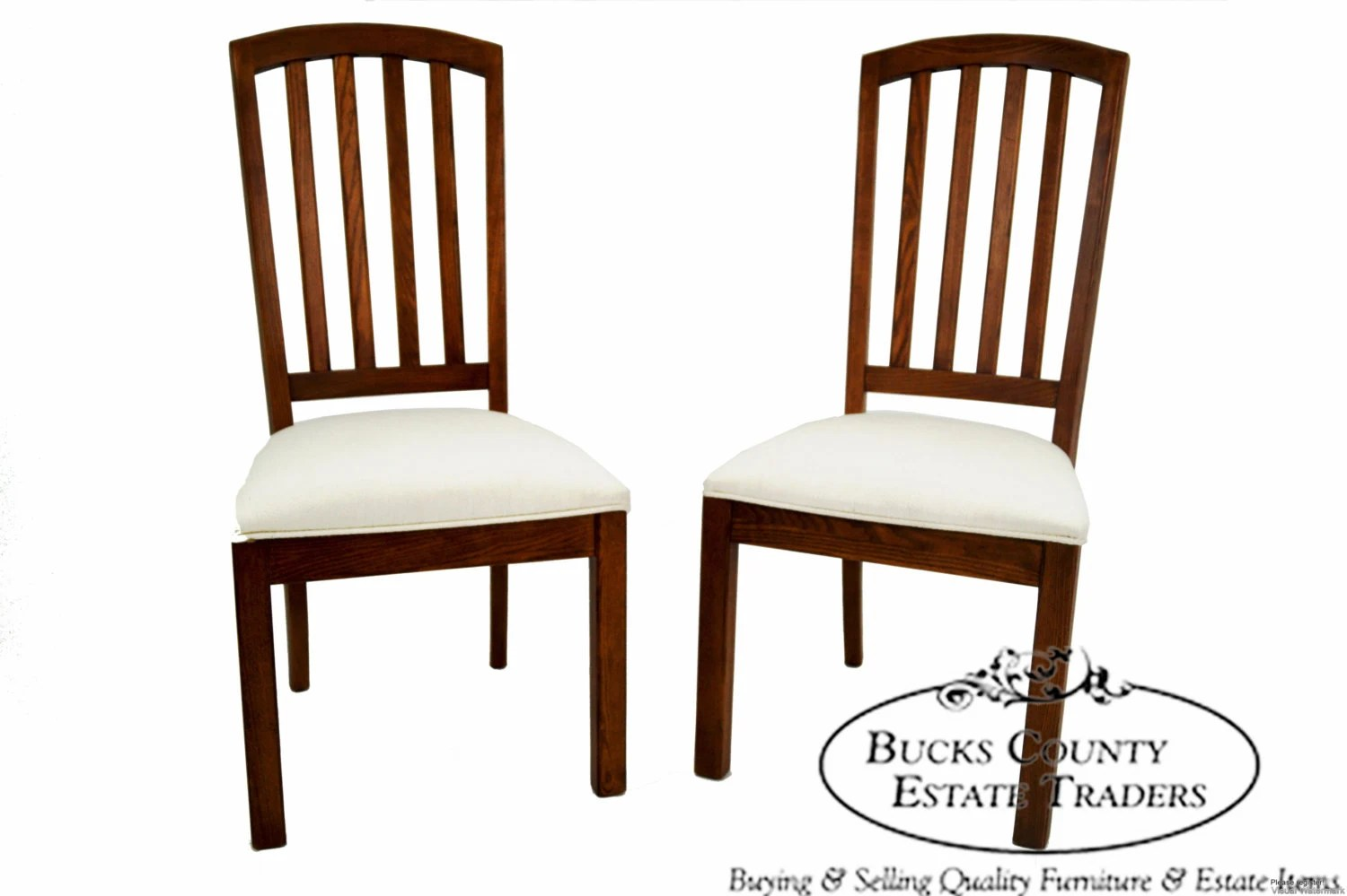 Mission Style Chairs Stanley Mission Style Pair Of Solid Oak Side Dining Chairs
