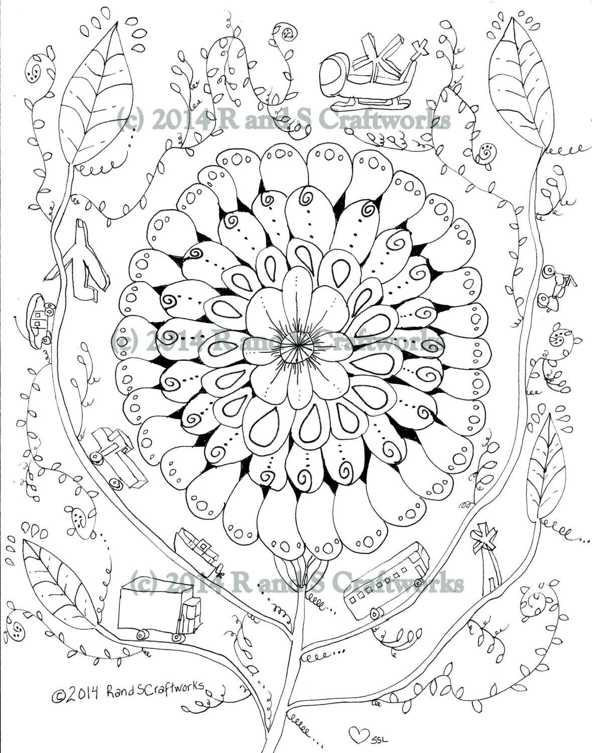 Coloring page: Flower Power