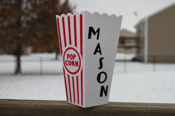 Personalized Popcorn Box Movie Night