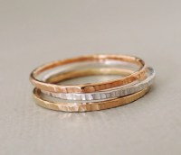 Stacking Rings rose gold gold silver textured stackable