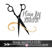 hair stylist logo design custom
