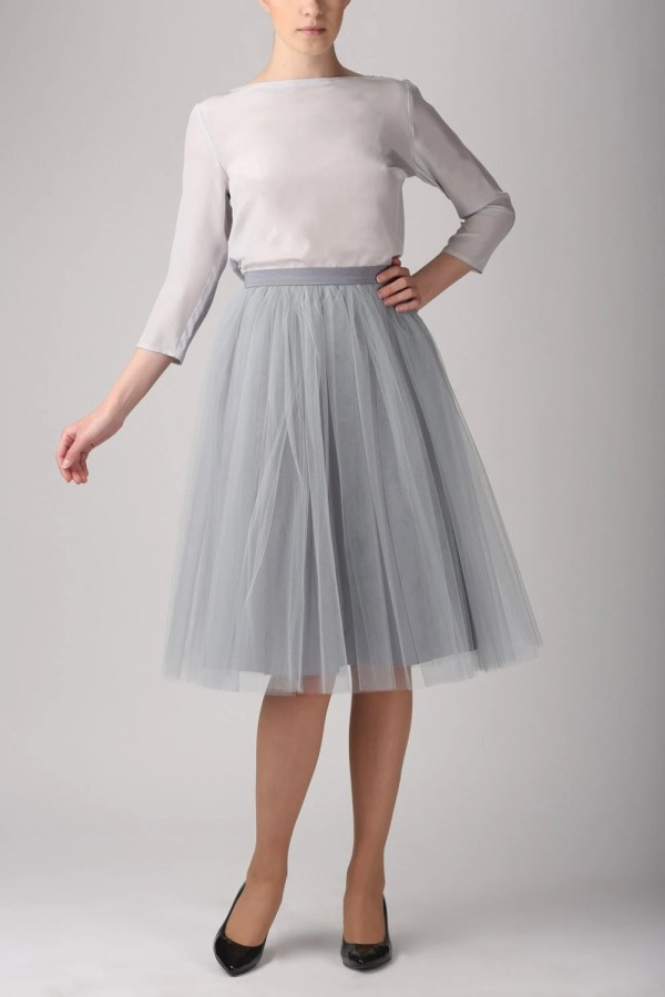 Grey Tulle Skirt Light Handmade Tutu