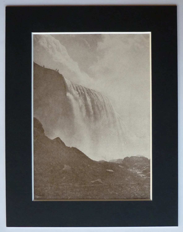 S Vintage Print Of Niagara Falls Waterfall Art