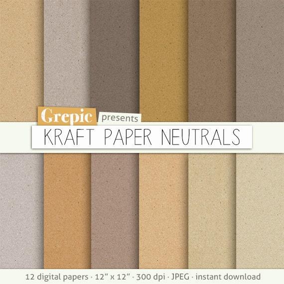 Digital paper texture kraft paper neutrals high res for Colour paper craft
