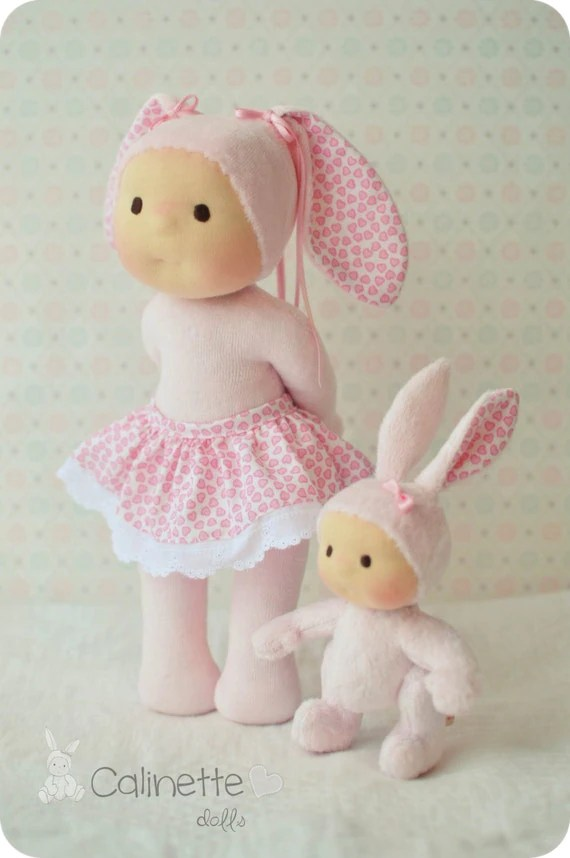 Items Similar To Valentine Amp Pompon Sisters Waldorf Doll