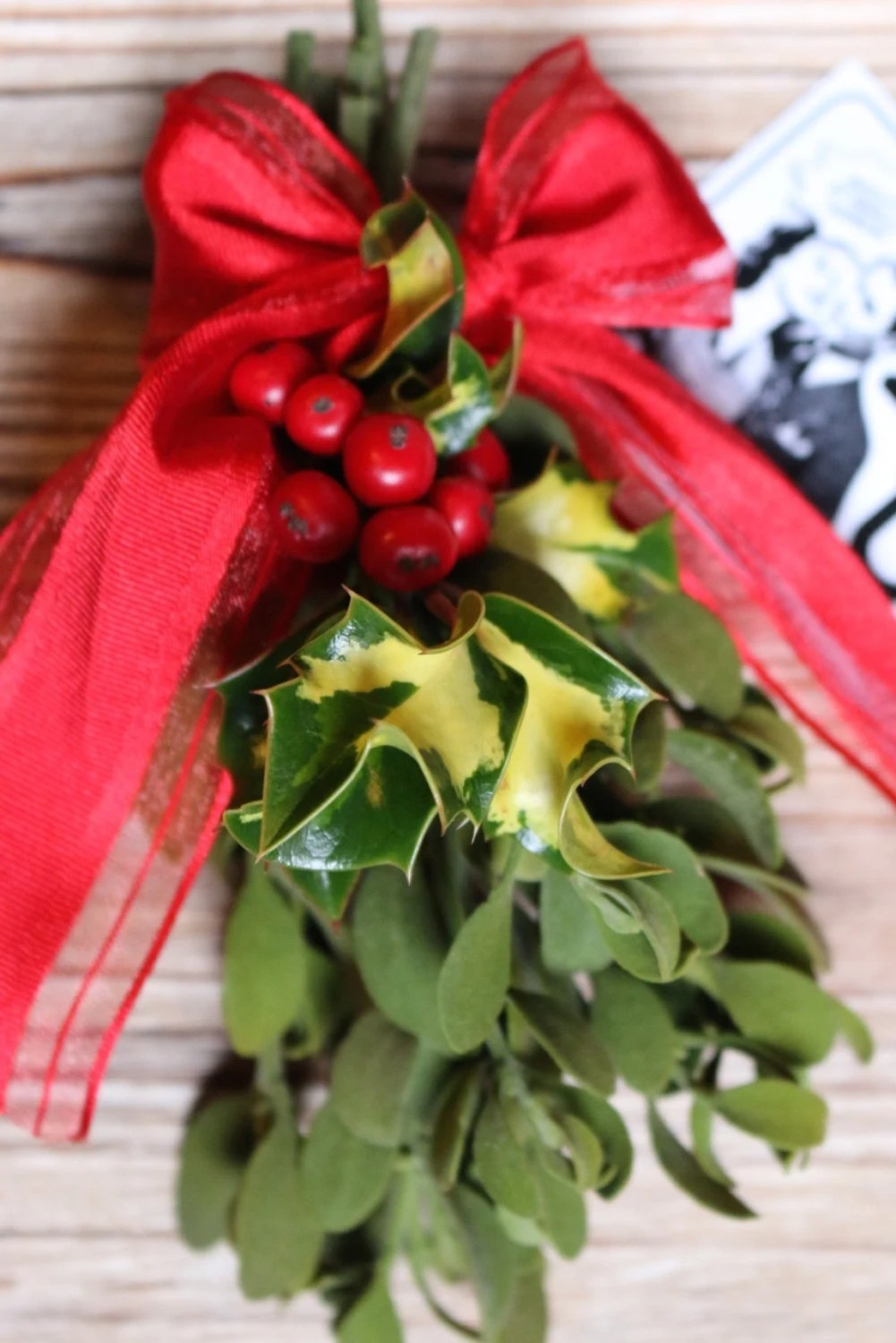 Meet Me Under the Mistletoe real mistletoe and holly by ...
