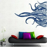 FREE SHIPPING Octopus Wall Decal Tentacles by DecalMyHappyShop