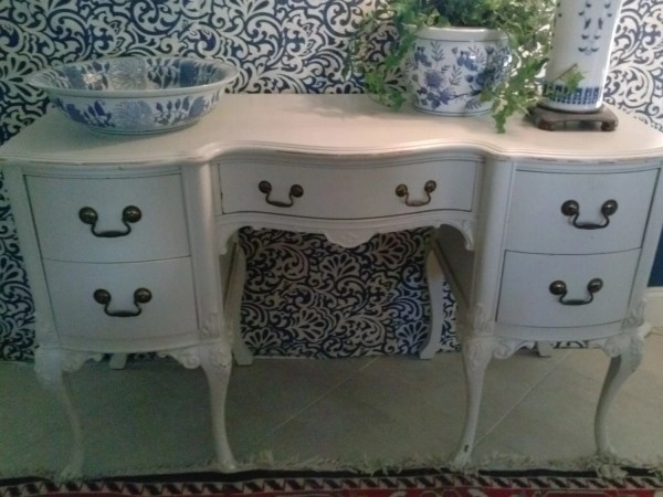 Beautiful Vanity Style Antique Desk Much Character