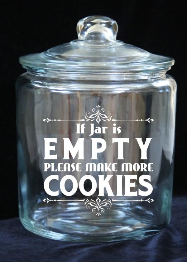 1 Gallon Glass Cookie Jar Empty. Joyousdays