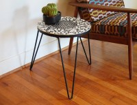 Mid Century Modern Side Table Mosaic Hairpin Legs by ...