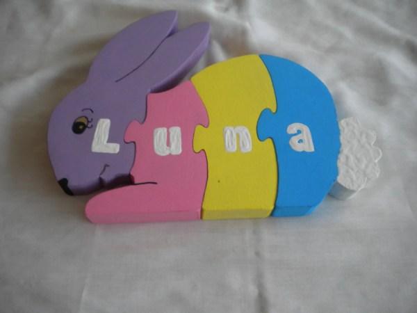 Rabbit Puzzle Wooden Child'