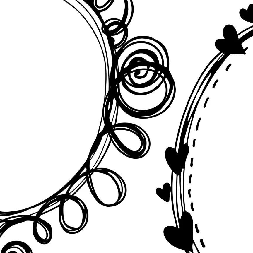 Digital Clip Art Borders, Doodle Frames, Adorable