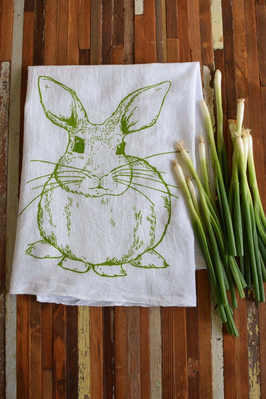 Tea Towel Screen Printed Flour Sack Towel Kitchen Towel