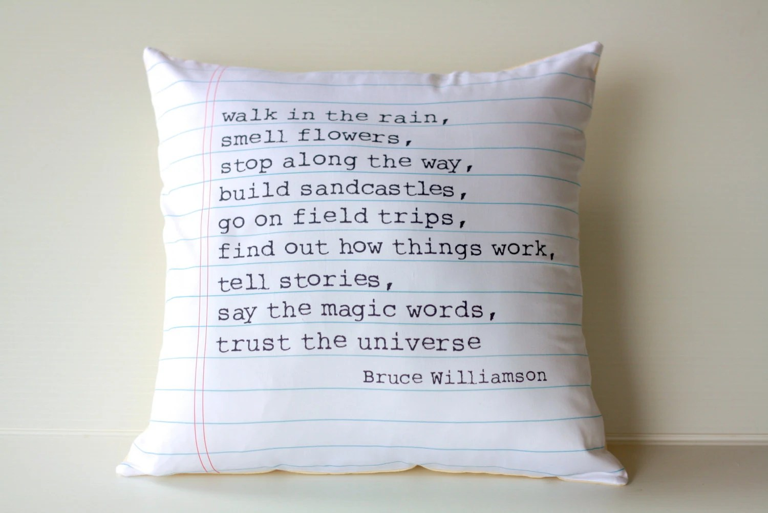 16x16 cushion decorative pillow POEM cushion 40cm cushion