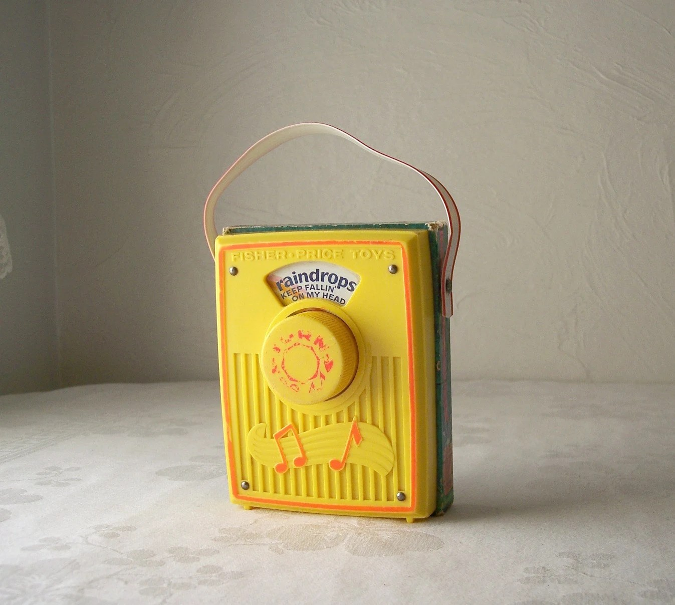 Vintage Fisher Price Pocket Radio Toy S Raindrops Keep