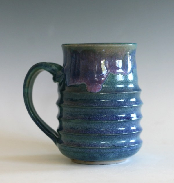 Pottery Coffee Mug 16 oz stoneware mug wheel thrown pottery