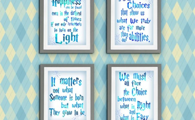 Harry Potter Quote Printable Wall Art Diy Pictures