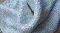 Baby Blanket Hand Woven Extra Small Itty Bitty Pastel