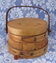 amish firkin 1930s hand wood