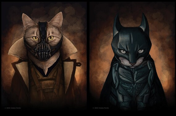 Bat Cat And Bane 8 5x11 Print