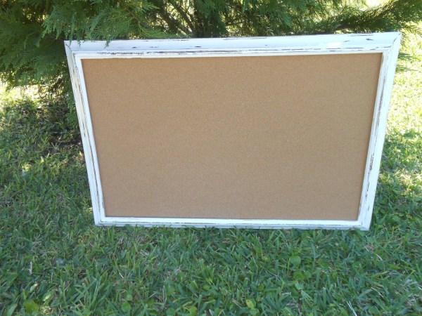 Large White Framed Bulletin Board